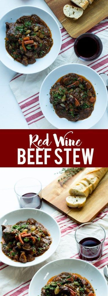 This Red Wine Beef Stew is rich and hearty, with tender beef and a velvety, savory sauce that you will not believe!