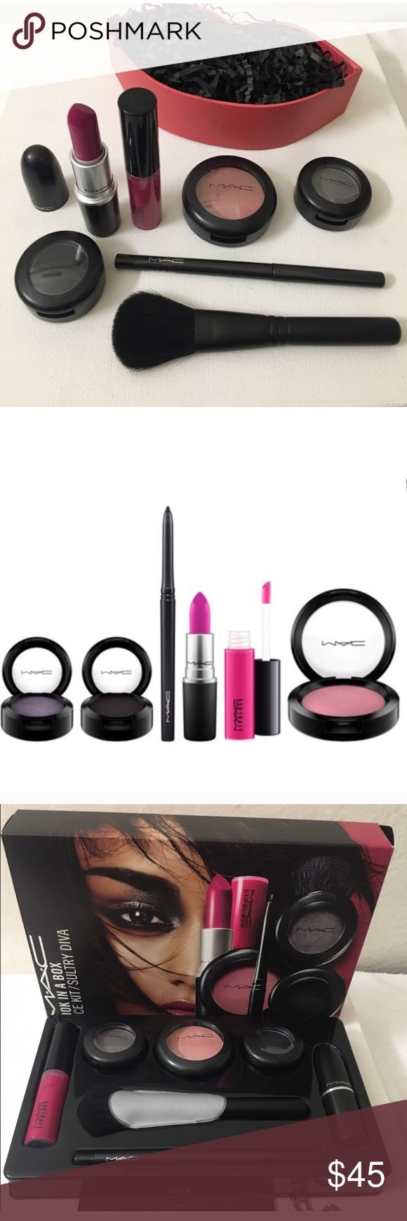 ✨💯Mac bundle x 4 ! Bnib flat fan lip , eyeshadow Get 4 brand new items ! Blush brush , blush in mocha , eyeshadow in pearled earth , and lipstick flat out fabulous ! New ! Get original box too MAC Cosmetics Makeup Blush