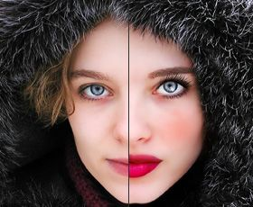 Beautiful Facial Make Up Photoshop Retouching Tutorial - Not sure if I would use all of these tips at once. Perhaps the catch lights and the eyelashes, but not that much of a dramatic change.