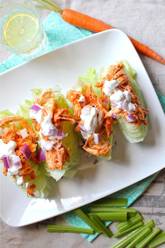 Buffalo Chicken Wedge salads #recipes