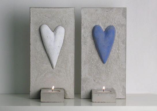 Inreda Ute - Lampett i betong, hjärta