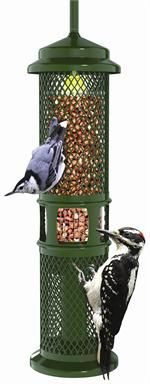 1052  Squirrel Buster Peanut Squirrel proof,  Holds 3/4 quarts of shelled peanuts,Weight adjustable to help control unwanted birds, Chew proof Woodpecker friendly, 2 year hassle free warranty