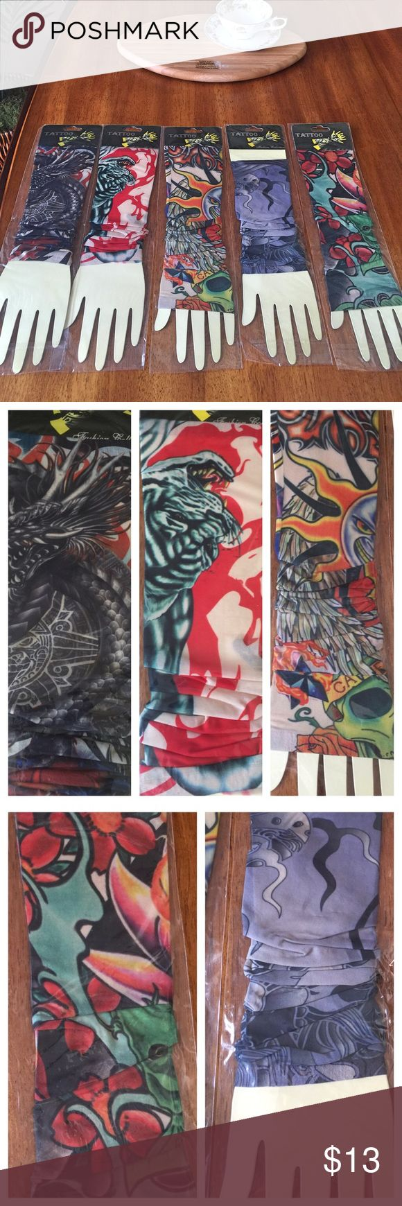 Bundle of 5 fake tattoo sleeves Never used Accessories