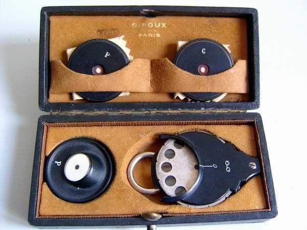 Oftalmoscopio GIROU - Parigi. fine 1800