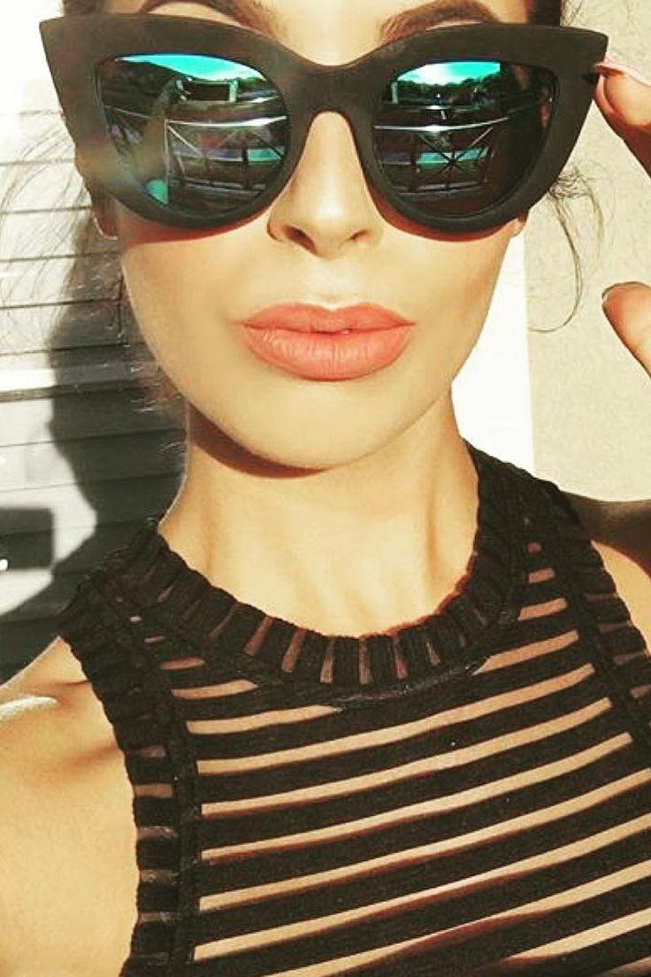 Quay Australia - Kitti Black & Blue Designer Sunglasses
