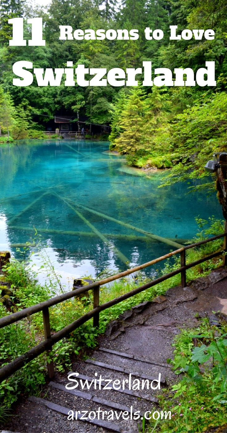 There are tons of reasons to love the tiny country, find 11 reasons why I love it and 2 reasons I actually do not like. Switzerland, Blausee.