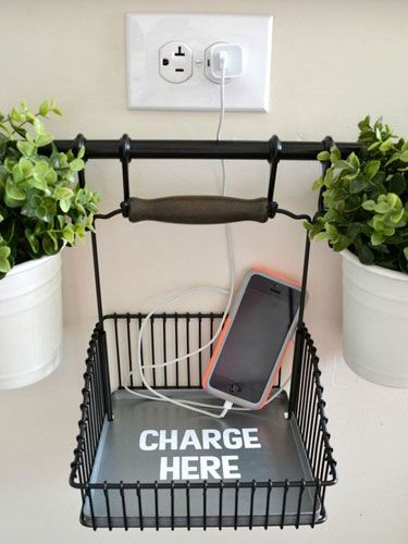 Salon decor ideas DIY charging station