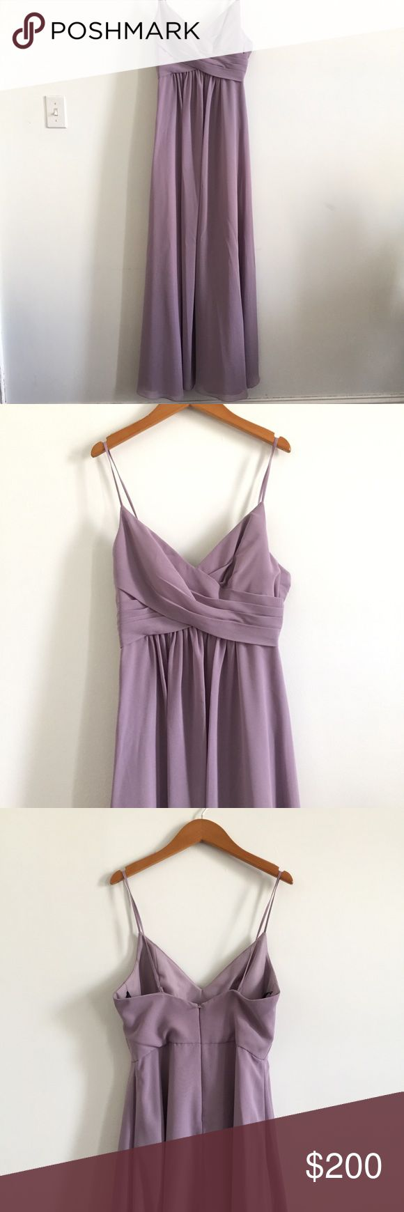 Bridesmaid dress Floor length bridesmaid dress. Never been worn. NWT. Straps are removable with buttons attachments. Sweetheart neckline. Dresses Wedding