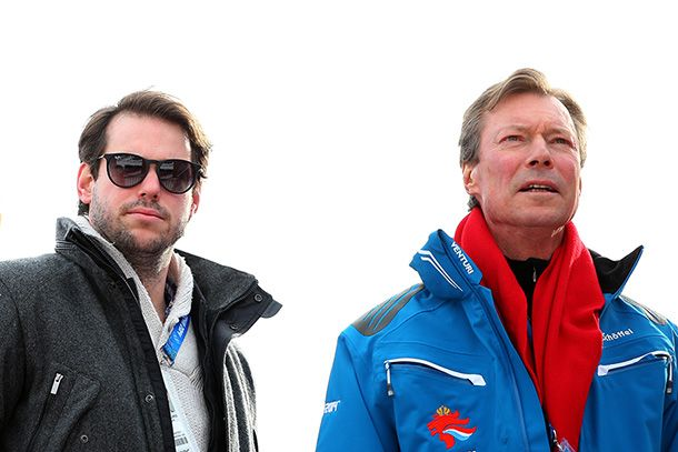 Prince Félix with his father, the Grand Duke of Luxembourg