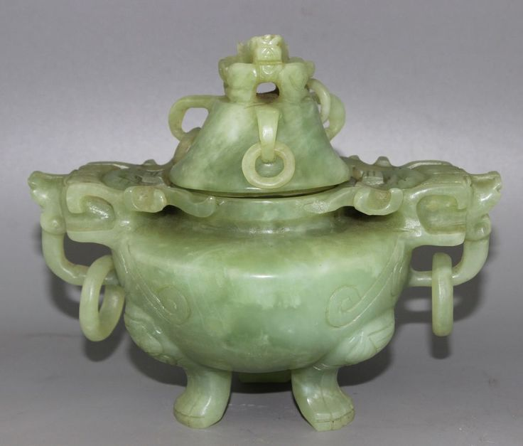 830g Ancient Chinese Jade Hand Carved Jade Dragon Incense