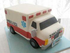 Cool ambulance cake for EMT's