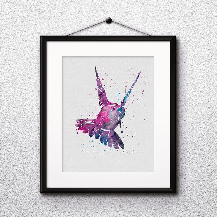 Bird art Prints Watercolor illustration Paintings Posters Home Decor Wall Art