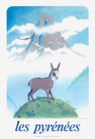 Les Pyrénées - Affiche originale de Samivel (ca 1980)