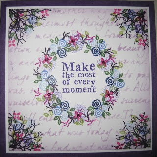 Rubber Stamp Tapestry, Make the most every moment, handstamped card made by Dianne ten Hove