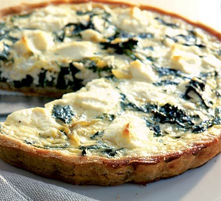 Goat's cheese & watercress quiche. A goat's cheese and watercress quiche that's gluten-free and truly flavoursome.