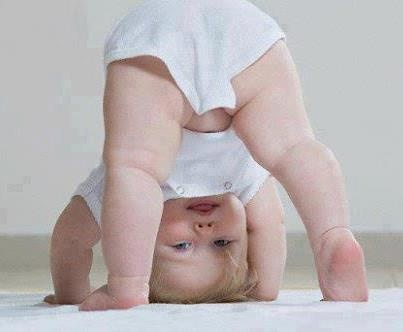 Upside  down baby