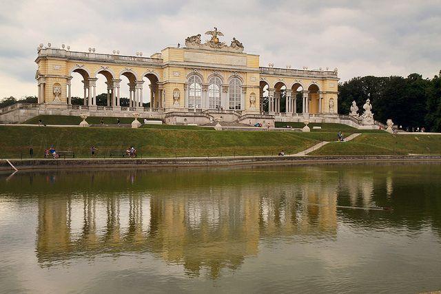 Gloriette, a reflection, Schönbrunn