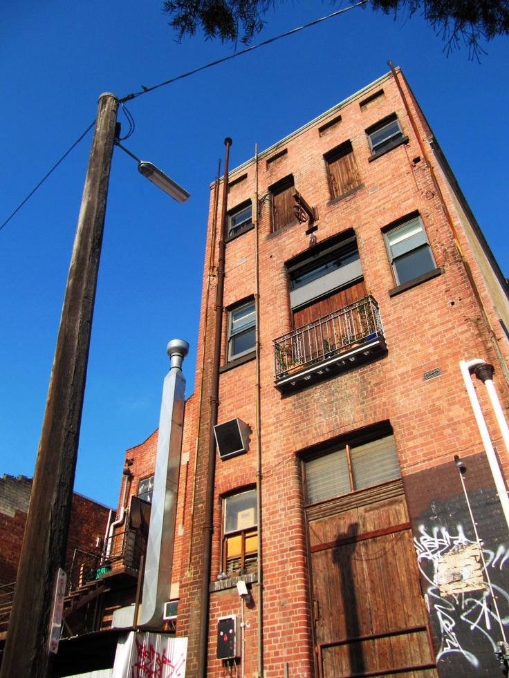 Once a warehouse factory, now it has become residential apartments. Otter Street, Collingwood, Melbourne, Australia.  (hmmmm.....is this gentrification?) by Kenneth Meow
