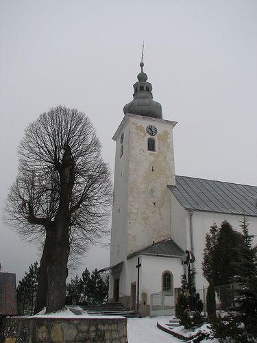church, Cicmany, Slovakia...interesting tree