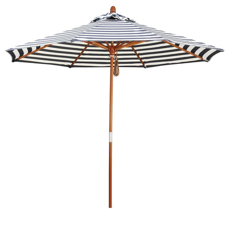 9' Round Striped Umbrella | Wayfair