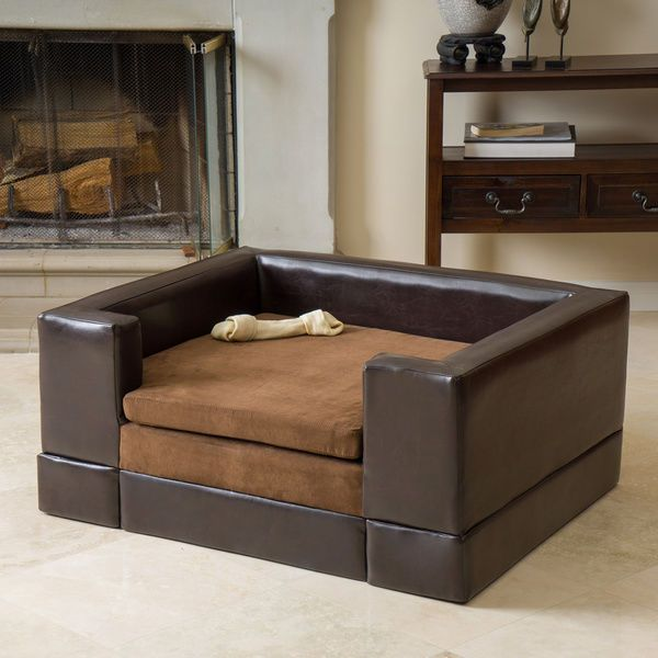 Contemporary Dog Bed Sofa Couch Furniture Large Pet Modern Napper Brown New #ChristopherKnight