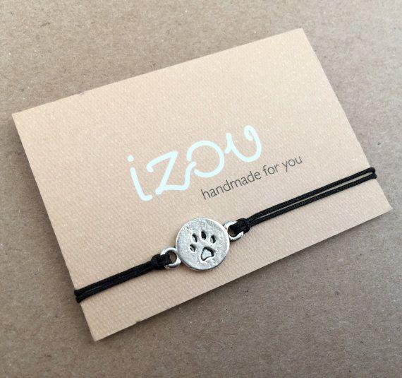 Unisex Dog Paw Print Silver Plated Charm Friendship by IzouBijoux