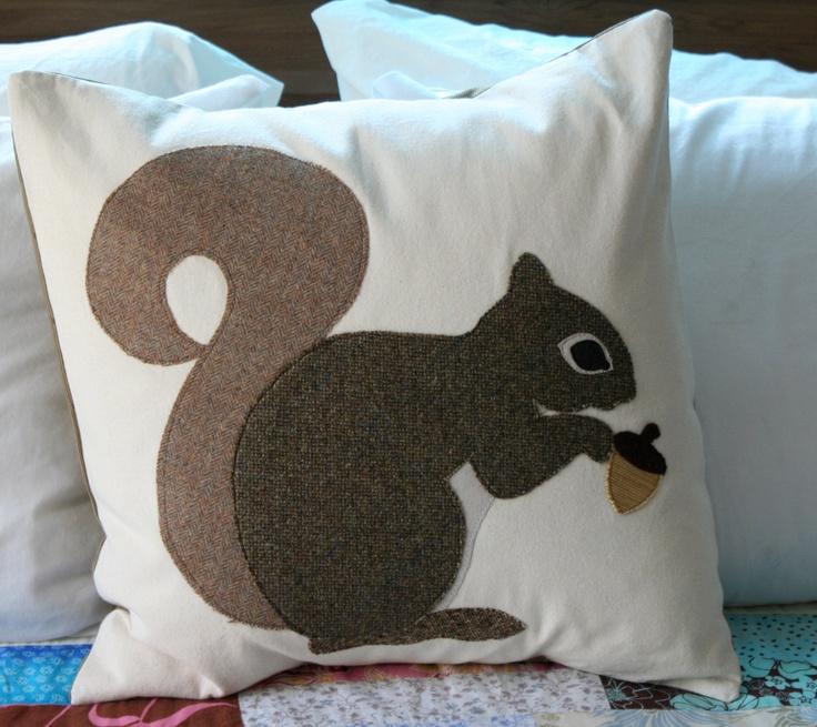 Squirrel Pillow. $65.00, via Etsy.