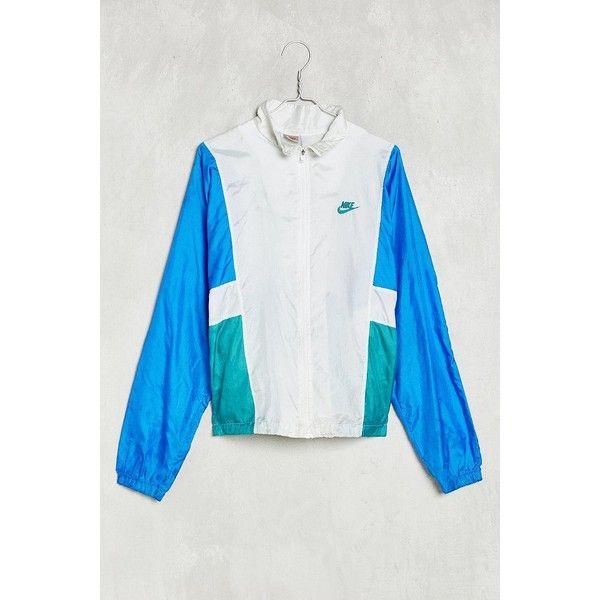 Vintage Nike Windbreaker Jacket ($88) ❤ liked on Polyvore featuring activewear, activewear jackets and vintage sportswear