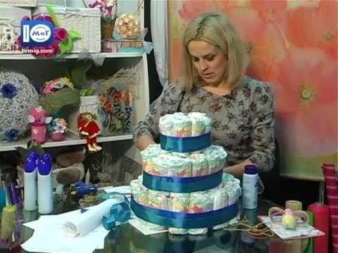 """Торт з підгузників. """"Скринка Ідей"""""""