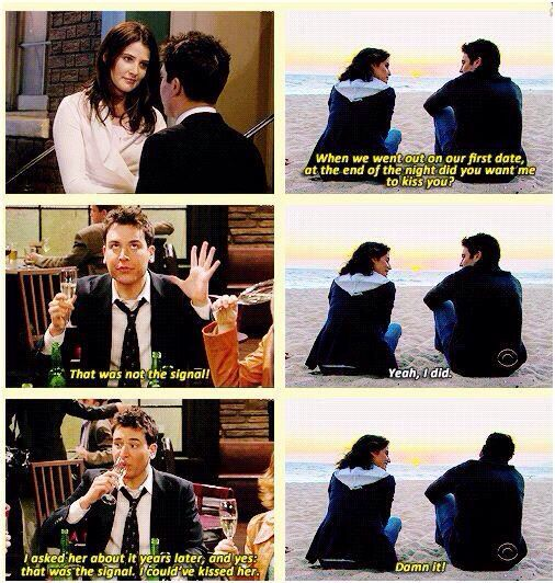Ted and Robin's first date | ahhhhhhhh, I knew these two would end up together! though. So happy. <3
