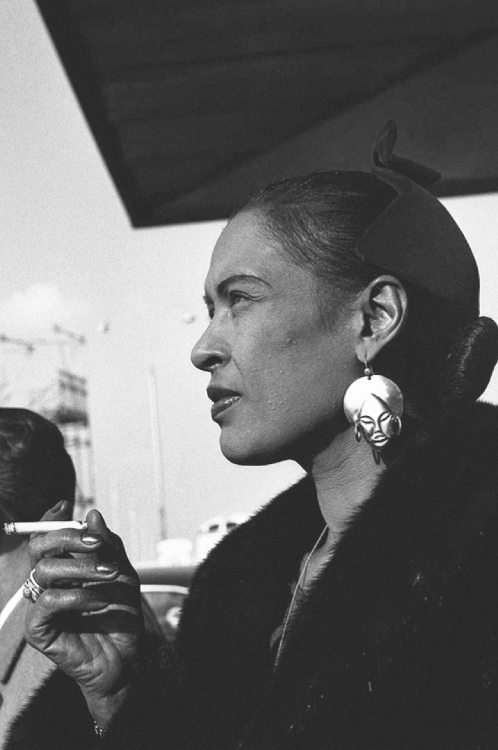 """Billie Holiday - those earrings are beyond! She wore them during one of her performances of """"Strange Fruit"""". I YouTubed it. Mesmerizing ..."""