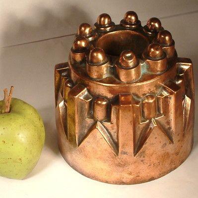 Antique Heavy 506grams Copper Jelly Mould Mold 253 Victorian Era C1870 | eBay