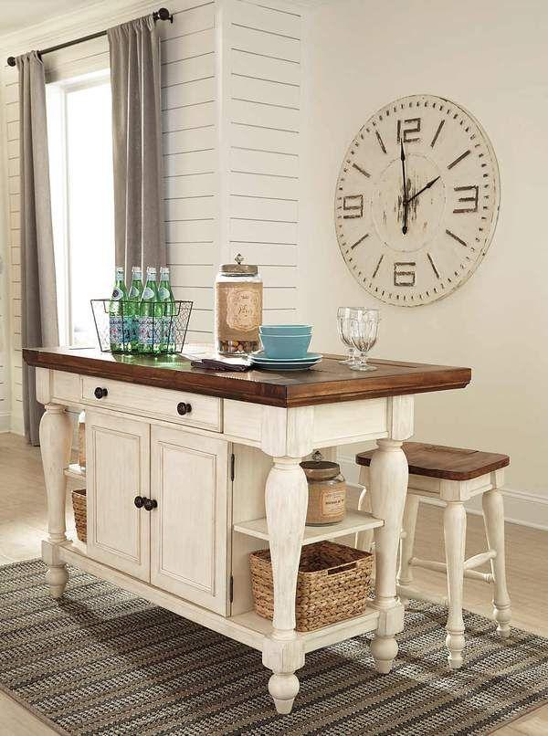 Marsilona Exclusive 3 Piece Kitchen Island Set Home Furniture