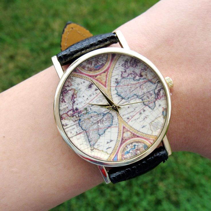 Around the World Map Watch via  Kloica Accessories. Click on the image to see more!