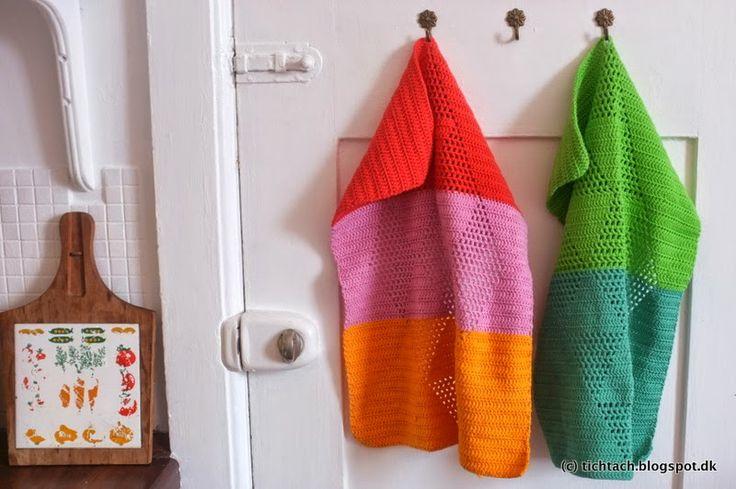 tichtach harlekin crochet towel hækle hekle mønster opskrift