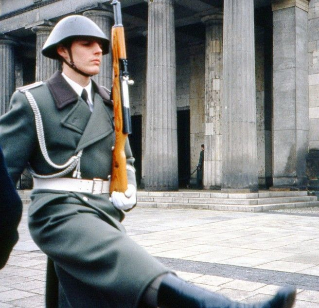 DDR soldier outside the Neue Wache, Berlin. #ddrmuseum