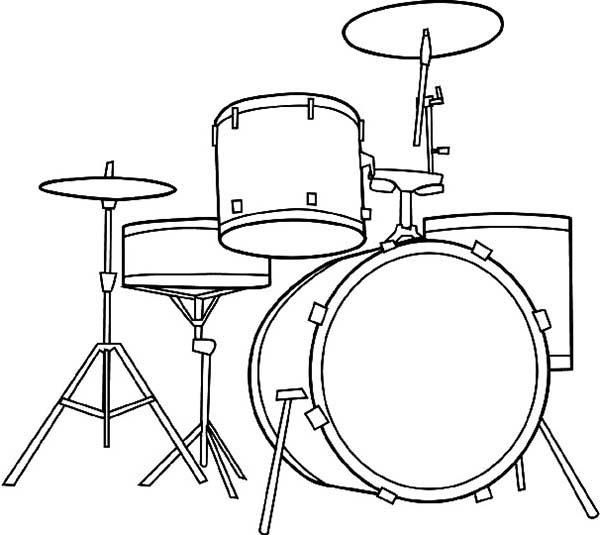 Read Moreawesome Musical Instruments Drum Set Coloring Pages