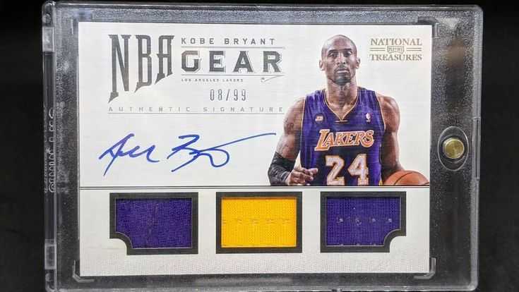 1213 nt kobe bryant jersey number 899 game used patch