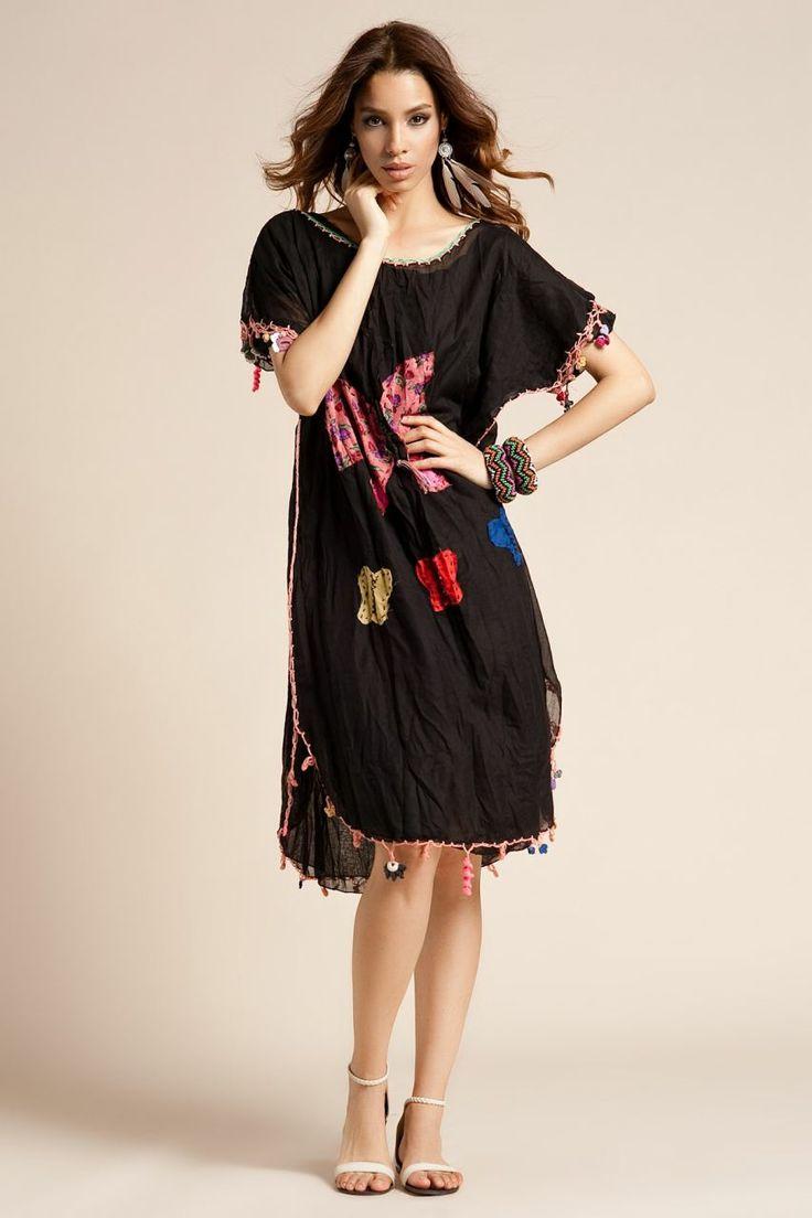 Otantik Bitez Elbise - Siyah