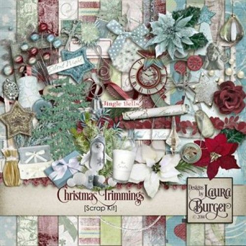Christmas Trimmings Scrap Kit