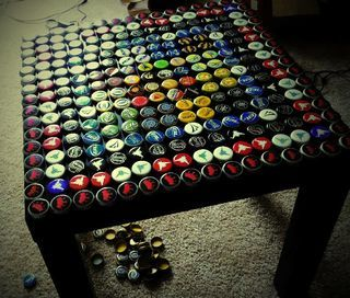 What To Do With Bottle Caps. I would love to do a bar front