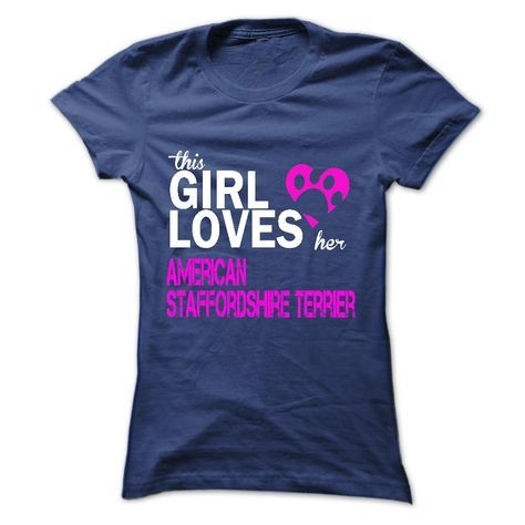 This girl love American Staffordshire Terrier T-Shirts Hoodie Tees Shirts