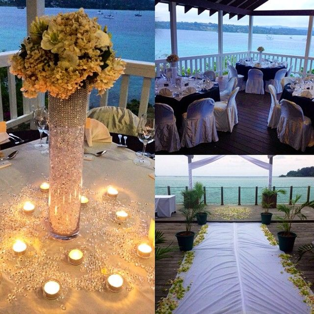 Ceremony at Warwick Le Lagon and reception at Iririki Island Resort & Spa - September 2014 #wedding #tropicalwedding #islandwedding #vanuatu #vanuatuwedding #evrisamting #destinationwedding
