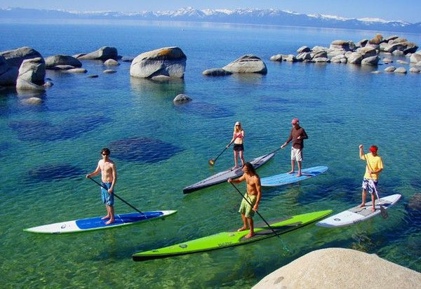 Paddle Boarding Luxury Vacation Rentals at Lake Tahoe http://www.sierratahoerentals.com/vacation-rentals.php