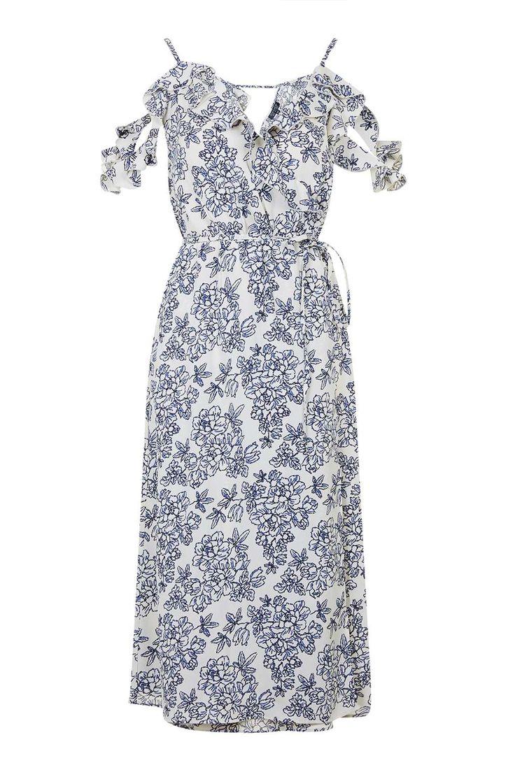 Floral Midi Dress - Topshop