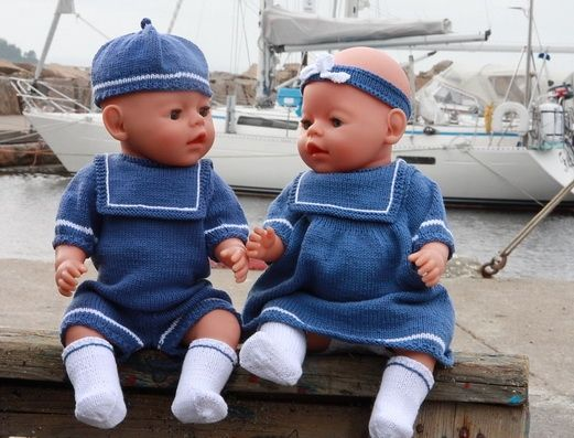 Bitty Twins matching sailor outfits (pattern) - $7.85