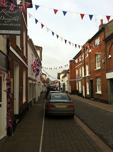Woodbridge Town Centre. Woodbridge, Suffolk England. I miss this little village and my friend Ches.