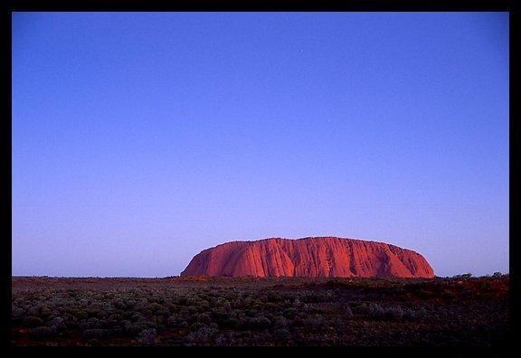 Dusk, Ayers Rock. Uluru-Kata Tjuta National Park, Northern Territories, Australia.