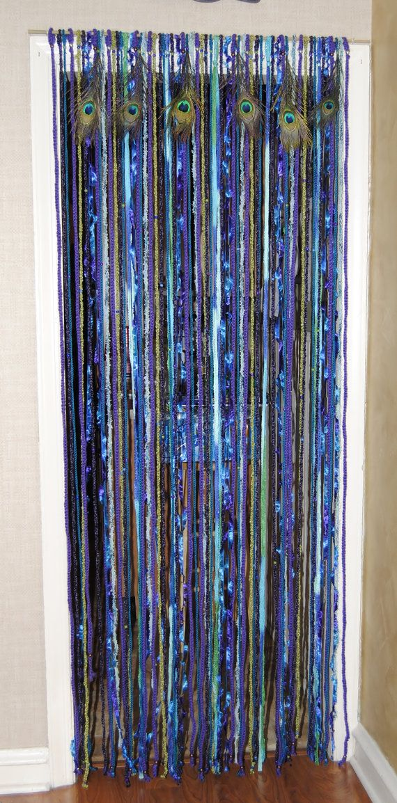 BoHo Peacock Curtain by ZenCrafters on Etsy