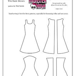 free clothes patterns for monster high and ever after high - Google Search